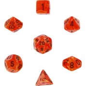 Chessex Vortex 7-Die Set - Orange w/black
