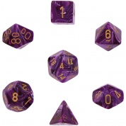 Chessex Vortex 7-Die Set - Purple w/gold