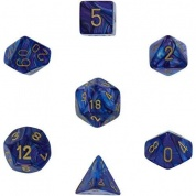 Chessex Lustrous 7-Die Set - Purple w/gold