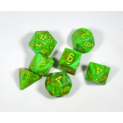 Chessex Vortex 7-Die Set - Slime w/yellow