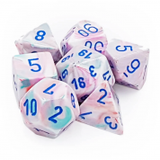Chessex Festive Polyhedral 7-Die Set - Pop Art w/blue