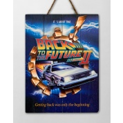Back to the future Wooden Poster 2