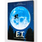 E.T. Wooden Poster
