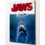 Jaws Wooden Poster