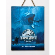 Jurassic World Mossa Wooden Poster