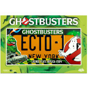 Ghostbusters Ecto-1 Licence Plate Replica