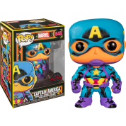 Funko POP! Marvel Black Light Captain America Vinyl Figure 10cm Target Exclusive