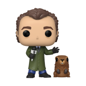 Funko POP! Groundhog Day - Phil w/ Punxsutawney Phil Vinyl Figure 10cm