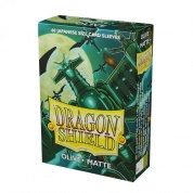 Dragon Shield Small Sleeves - Japanese Matte Olive (60 Sleeves)