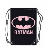 Batman Pink Logo Gym Bag