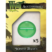 Green 40mm Translucent Bases (5 pack)