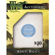 Blue 30mm Translucent Bases (10 pack)