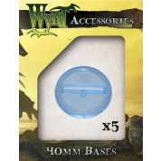 Blue 40mm Translucent Bases (5 pack)