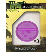 Purple 50mm Translucent Bases (3 pack)