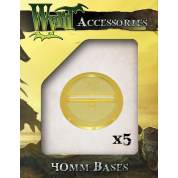 Gold 40mm Translucent Bases (5 pack)