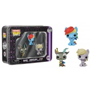 Funko POP! My Little Pony - Pocket POP! Tin 3-Pack feat. Rainbow Dash, Derpy and Discord vinyl figures 4cm