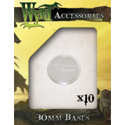 Clear 30mm Translucent Bases (10 pack)