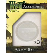Clear 50mm Translucent Bases (3 pack)