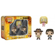 Funko POP! The Walking Dead - Pocket POP! Tin 3-Pack feat. Rick Grimes, Daryl Dixon and Teddy Bear Girl Zombie vinyl figures 4cm