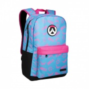 "Overwatch 18"" D.Va Splash Backpack - Blue/Pink"