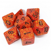 Chessex Speckled Polyhedral 7-Die Set - Fire