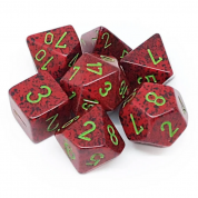 Chessex Speckled Polyhedral 7-Die Set - Strawberry