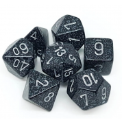 Chessex Speckled Polyhedral 7-Die Set - Ninja