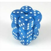 Chessex Speckled 16mm d6 with pips Dice Blocks (12 Dice) - Water
