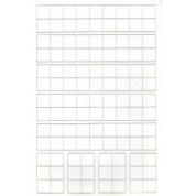 Half Sheet Blank white 9/16 inch counters