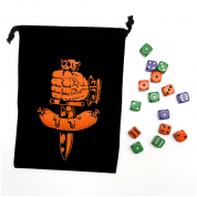 Dungeon Degenerates Dice Bag and Dice