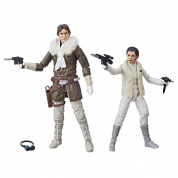 Star Wars The Black Series Han Solo and Princesss Leia Organa Hascon Exclusive Figures