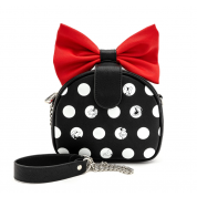 Minnie Polka Big Red Bow Crossbody Bag