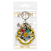 Pyramid Rubber Keychains - Harry Potter (Hogwarts Crest)