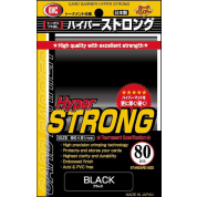 KMC Standard Sleeves - Hyper STRONG Black (80 Sleeves)