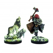 D&D Icewind Dale: Rime of the Frostmaiden - Winter Wolf & Barbarian (2 figs)