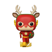 POP Heroes: DC Holiday - Rudolph Flash Vinyl Figure 10cm