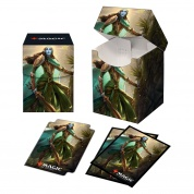 UP - Magic: The Gathering Kaldheim PRO 100+ Deck Box and 100ct sleeves featuring Commander Art 1