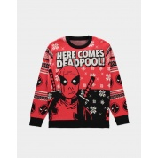 Deadpool - Knitted Christmas Jumper - L