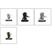 Pathfinder Battles Deep Cuts Unpainted Miniatures - Goblin Rogue Male (6 Units)