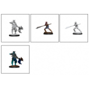 Magic the Gathering Unpainted Miniatures: Coralhelm Commander & Halimar Wavewatch (Merfolk) (6 Units)