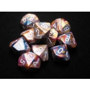 Chessex Ten D10 Sets - Festive Carousel w/white