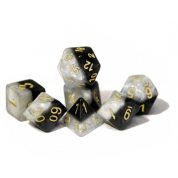 Halfsies Dice Yin Yang - Upgraded Dice Case (7 Polyhedral Dice Set)