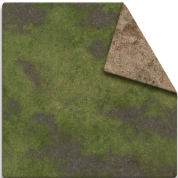 MFF - 6x4 Game Mat - Broken Grassland / Desert Scrubland with Adventure Grid
