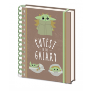 Pyramid A5 Wiro Notebook - Star Wars The Mandalorian (Cutest In The Galaxy)