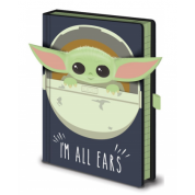 Pyramid Premium A5 Notebook - Star Wars: The Mandalorian (I'm All Ears Crib)