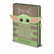 Pyramid Premium A5 Notebook - Star Wars: The Mandalorian (I'm All Ears Green)