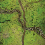 Kraken Wargames Gaming Mat - River Valley 3x3 Gaming Mat 2.0