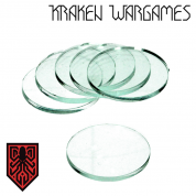Kraken Wargames - Clear Base round 24x3mm (10)
