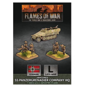 Flames Of War - D-Day: Armoured SS Panzergrenadier Company HQ (Plastic) - EN