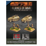 Flames Of War - D-Day: SS Reconaissance Company HQ (Plastic) - EN